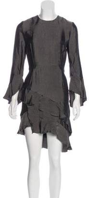 IRO Ruffle-Accented Knee-Length Dress w/ Tags