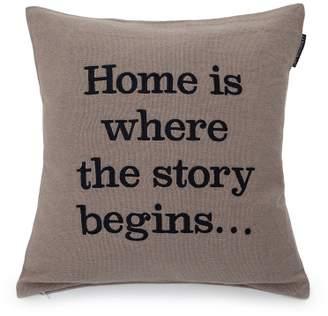 Lexington Embroidery Story Cushion 50x50 Beige