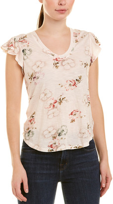 Rebecca Taylor Faded Floral Top