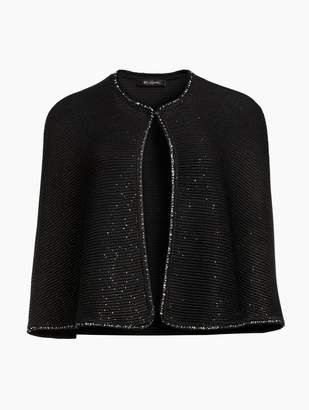 St. John Links Sequin Knit Cape