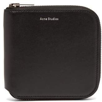 Acne Studios Csarite Zip Around Leather Wallet - Mens - Black