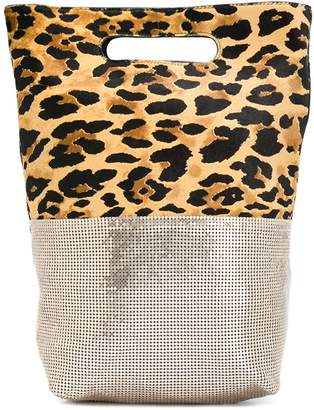 Paco Rabanne contrast tote bag