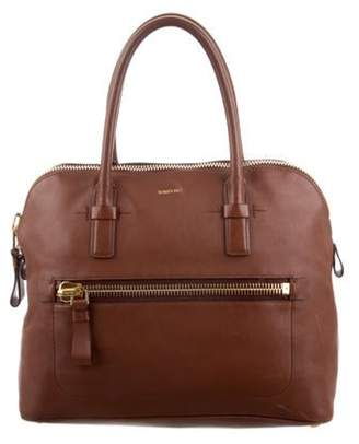 Tom Ford Leather Handle Bag Brown Leather Handle Bag