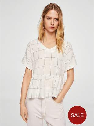 MANGO Check Blouse