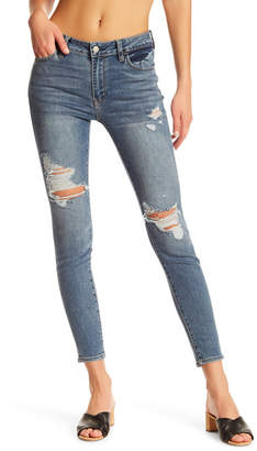 Just USA Distressed Skinny Jean (Juniors) $59.99 thestylecure.com