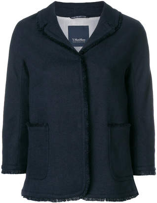 Max Mara 'S frayed edge trim jacket