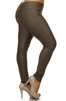 Blend of America Yelete Women's Plus Size Cotton Stretchy Jeggings With 5 Pockets (XX-Large, )