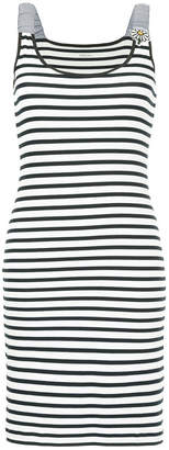 Marc Cain striped fitted dress