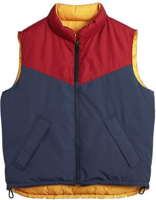 Burberry colour-block reversible gilet