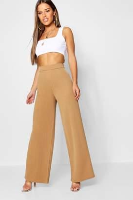 boohoo Petite Wide Leg Crepe Trouser