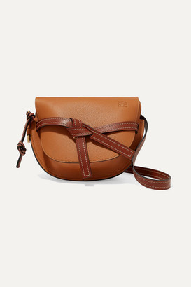 Loewe Gate Small Textured-leather Shoulder Bag - Tan