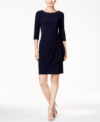 Alex Evenings Embellished Ruched Faux-Wrap Dress $139 thestylecure.com