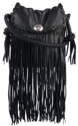 Ralph Lauren Black Label Ralph Lauren Collection Black Label Leather Fringe-Accent Crossbody Bag