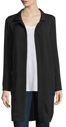 Eileen Fisher Long Lightweight Silk Jacket $448 thestylecure.com