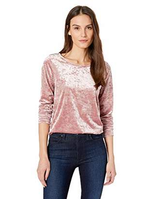 Karen Kane Women's Crush Velvet Shirttail TEE
