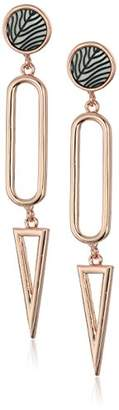 Vince Camuto Engraved Ivory Three Part Drop Earrings