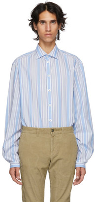 Gucci Blue Striped Pocket Shirt
