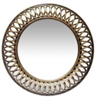 Infinity Instruments Lattice Round Wall Mirror - 22.75W x 22.75H in.