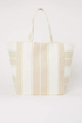 H&M Canvas Shopper - White
