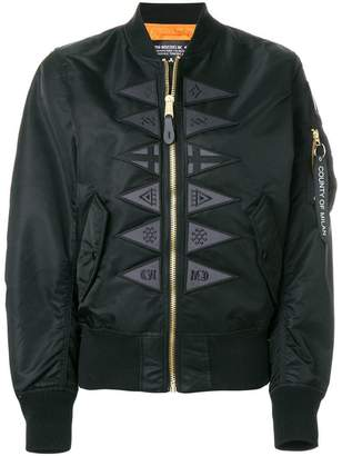 Marcelo Burlon County of Milan Flags Alpha MA-1 jacket