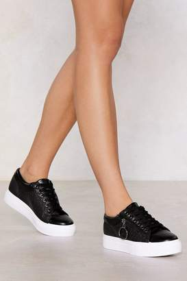 Nasty Gal Croc the Boat Ring Sneaker