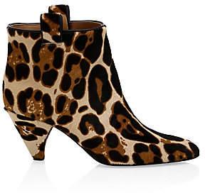 Laurence Dacade Women's Terence Leopard-Print Calf Hair Kitten Heel Booties