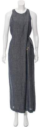Rosetta Getty Wide-Leg Chambray Jumpsuit w/ Tags