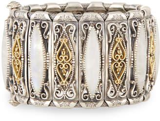 Konstantino Erato Labrardorite Doublet Filigreed Cuff Bracelet