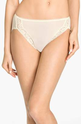 Wacoal 'Bodysuede' Lace Trim High Cut Briefs