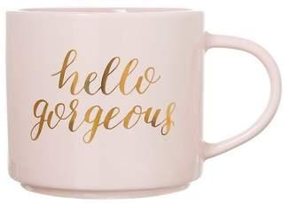 "Clay Art Threshold Stackable Mug 15oz Porcelain- ""Hello, Gorgeous"""
