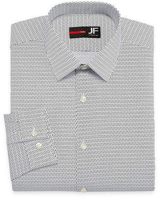 Jf J.Ferrar Easy-Care Stretch Long Sleeve Broadcloth Pattern Dress Shirt - Slim