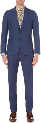 Paul Smith Mens Light Blue Buttoned Modern Suit