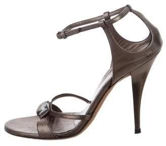 Gucci Embellished Ankle Strap Sandals