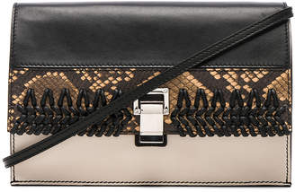 Proenza Schouler Small Embossed Python & Crochet Lunch Bag