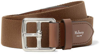 Mulberry 3cm Boho Buckle Leather-Trimmed Webbing Belt