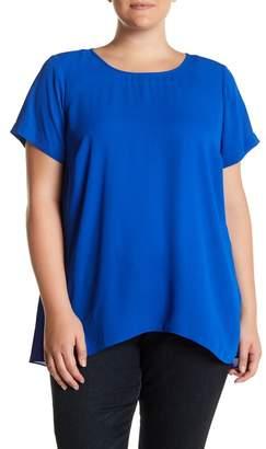 Vince Camuto Short Sleeve Hi-Lo Hem Blouse (Plus Size) $89 thestylecure.com