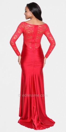 Atria Long Sleeved Lace Prom Dress