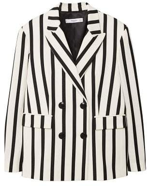 MANGO Striped suit blazer