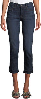 Parker Smith Released-Hem Cropped Straight-Leg Jeans