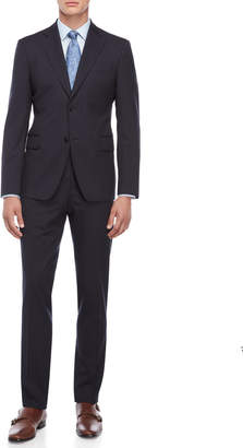 Roberto Cavalli Navy Pinstripe Wool Suit