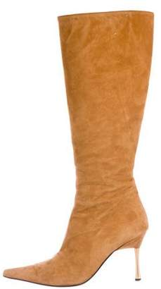 HUGO BOSS Boss by Suede Pointed-Toe Knee-High Boots