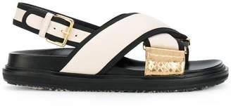 Marni contrast strap platform sole sandals