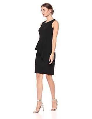 Eliza J Women's Sleeveless Sheath Dress with Peplum Overlay