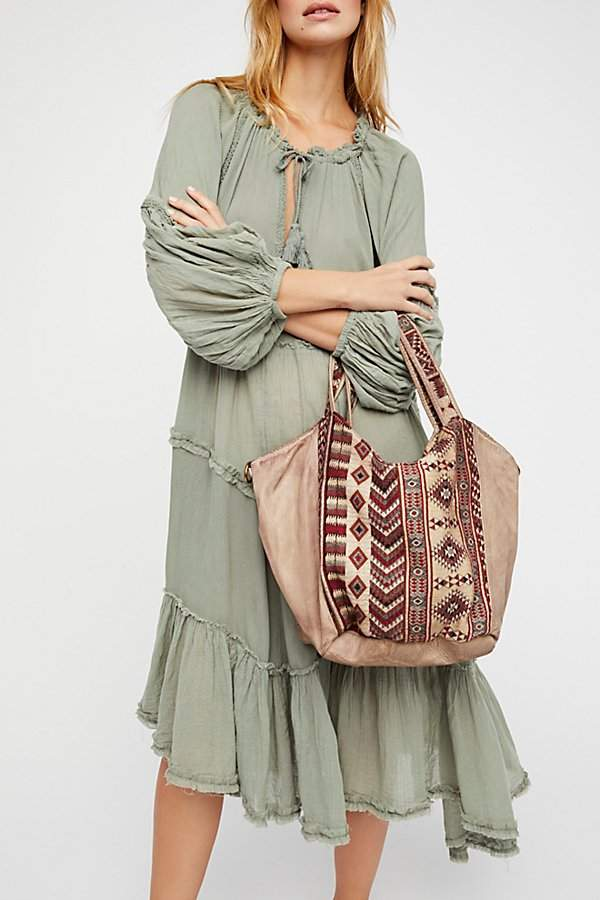Costa Distressed Leather Tote by Free People