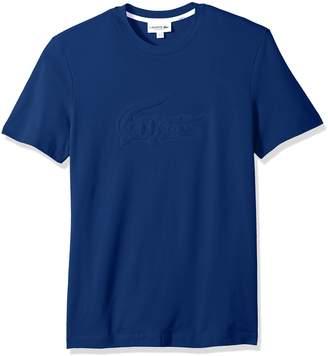 Lacoste Men's Short Sleeve Graphics Jersey Padded Croc Reg Fit T-Shirt, TH3233