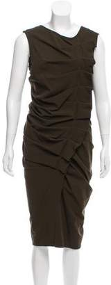 Donna Karan Wool Midi Dress