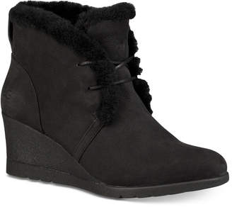 UGG Women's Jeovana Wedge Lace-Up Booties