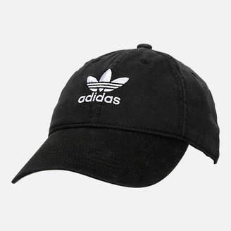 adidas Women's Precurved Washed Strapback Hat