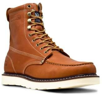 GOLDEN FOX Moc Toe Wedge Boot