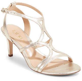Lauren Ralph Lauren Cut-Out Ankle-Strap Sandals